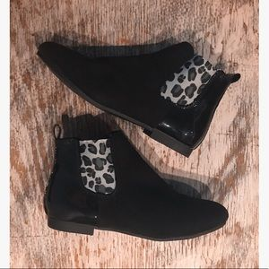 Shoes - Chelsea boots with leopard elastic